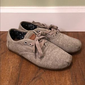 Gray Women's Lace Up TOMS